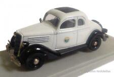 Ford Fordor 1935 coupe POLICIA POLICE 1:43 Rextoys Diecast coche a escala