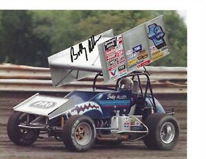 Autographed Bobby Allen World of Outlaws Sprint Car Racing Photograph