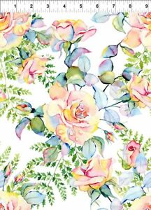 Patricia Large Roses by In the Beginning 1/2 Yard 2PAT1