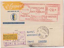 ITALIA 1956 TIMBRO ROSSO FORNITURE PER ENTI PUBBLICI MORCIANO DI ROMAGNA FORLI
