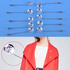 10pcs Metal Blank Brooch Pin Lapel  Dress Jewelry Brooches Accessories DIY Craft