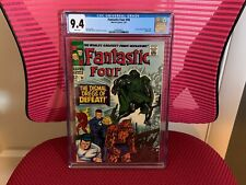 Fantastic Four #58 CGC 9.4 White Pages Doctor Doom Silver Surfer
