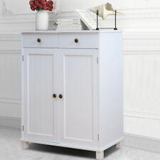 White Kitchen Side Cabinet Buffet Sideboard 2 Drawers Wall Side Unit Shabby Chic