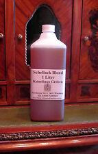 Schellackpolitur, Blond, Politur hergestellt aus wachsfreiem Shellac, 1000 ml