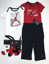 Air JORDAN BOYS Baby 6-pc outfit GIFT set 2Bodysuits, Pants & 3pairs Socks 9-12M