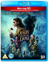 BEAUTY AND THE BEAST [Blu-ray 3D + 2D] (2017) Disney Emma Watson Live Movie &