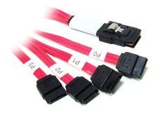 SFF8087 Mini SAS to 4x SATA Multilane Cable Kabel 55cm AST1392-0013 LSI 33906-00