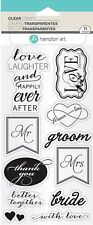 Love Clear Acrylic Wedding Stamp Set by Hampton Art SC0777 NEW!