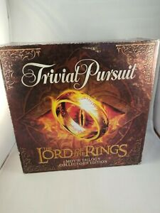 Open Box Trivial Pursuit Lord Of The Rings Movie Trilogy Game Collectors Edition