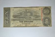 T-59 $10 Confederate Note- April 6, 1863- Nice Au or Better