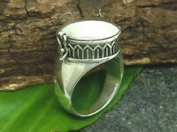 Heavy Poison Ring 925 Silver Ring Polished Gothic Jewelry Poison Ring