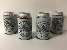 Coors Light Born In The Rockies Beer Koozie Can / Bottle Cooler FOUR(4) NEW & FS