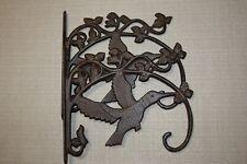 (2) Hummingbird Plant Hangers, Cast Iron, 10 1/2 inch, Bird Garden Decor, B-81