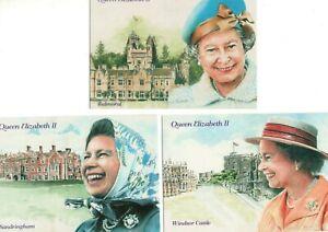 3 ART postcards:  HM THE QUEEN
