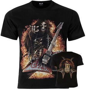 Guitar Rock Guitar Skull Official Wild T-Shirt UK Stockist M L XL
