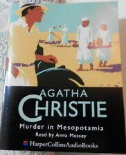 AUDIO BOOK AGATHA CHRISTIE MURDER IN MESOPOTAMIA 4 CASSETTES READ BY ANNA MASSY