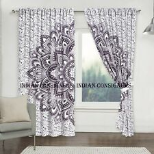 Flower Mandala Wall Hanging Door Window Curtain Drape Valance Indian Bohemian