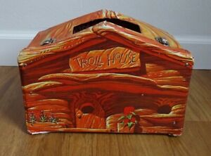 Vintage 1960s Troll Doll House Cave Den Carry Case