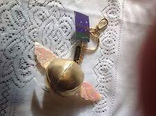 Harry Potter golden Snitch Keyring/Keychain 2000 Warner Bros NEW