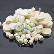 60PCS Soft Felt Polishing Wheel Buffer Pad for Rotary Tools 3mm Shank