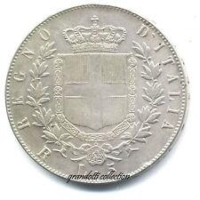 REGNO D'ITALIA 5 LIRE 1873 ROMA MEDAGLIA FALSO NUMISMATICO ARGENTO