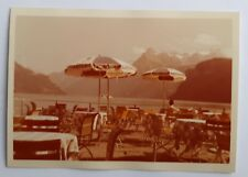 July 1959 Colour Photograph. Cafe/ Chairs/ 'Dolce Vita'. Lake Maggiore, Italy