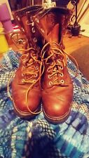 NaNa Industrial Strength  Boots BROWN LEATHER Military Shoes 10 M