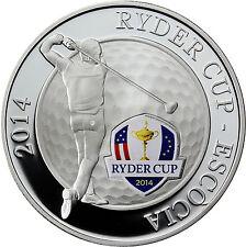 Andorra 10 Diners Silber Ryder Cup Schottland Silbermünze vorm Euro 2014
