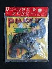 DE-LUXE TOYS POLICE SET 1960's MADE IN JAPAN