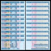 Lot 10 PCS, Myanmar 1000 Kyats, 2020, P-New, New Design, Banknotes, UNC