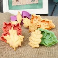 Leaf Shape Fondant Cake Cutter Plunger Cookie Mold Sugarcraft Decor Mould B719C