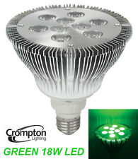 GREEN Coloured LED PAR38 Floodlight Globe / Bulb 18W 240V E27