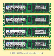 HP Server RAM 32G 4x 8GB PC3-10600R ECC REG DDR3 1333MHz 240pin RDIMM Memory LOT