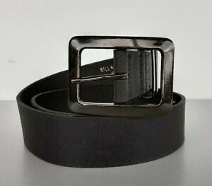 Belt Billabong Mens Large Solid Black Leather