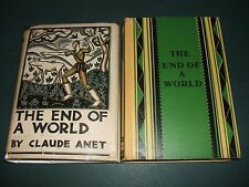 The End of a World by Anet Claude 1927 First edition in English Lost Race Novel