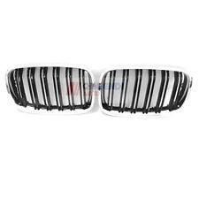 For BMW E70 X5 E71 X6 Front Bumper Kidney Grille Chromed Black  L &R  2007-2013