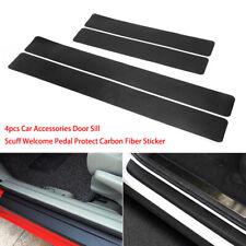 4X Car Sticker Carbon Fiber Rubber Edge Guard Strip Door Plate Sill Protector BL