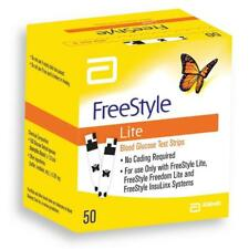 FreeStyle Lite Blood Glucose Test Strips x 50 Exp Apr 19