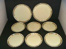 W.S. GEORGE CAVITT SHAW - CHEROKEE PATTERN -SET OF 8 PLATES -VINTAGE DINNERWARE