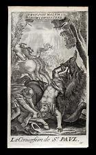 santino incisione 1600 LA CONVERSIONE DI S.PAOLO david