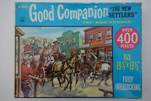 Vintage Good Companion jigsaw puzzle -- The New Settlers