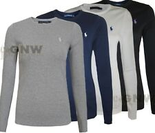 Ralph Lauren Ladies' Basic Long Sleeve Crew 3 Colours 2 Sizes 40 GBP M Black