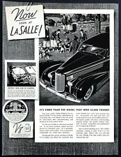 "1938 LaSalle V-8 Series 50 Sedan art ""Fox & Hound Hunt Theme"" vintage print ad"