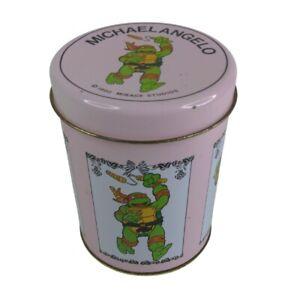 Vintage 1990 Teenage Mutant Ninja Turtles  Mirage Studios Collectable Tin
