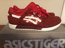 Asics Tiger GEL-Lyte III Men Casual Shoes True Red/White H7K4Y 2301 SZ 12