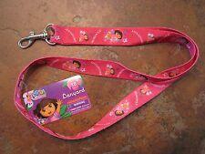 Lanyard Key Holder Dora the Explorer Nickelodeon Pink Strap