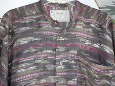 Vintage JEKYLL and HYDE Large Casual Grey Sliver thread MADE IN ENGLAND Gorgeous
