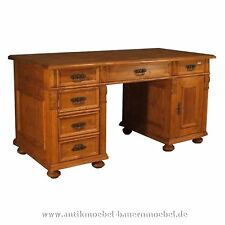 Schreibtisch,Arbeitstisch,Büro - Tisch,Weichholz,Massiv,Landhausstil,Gründerzeit