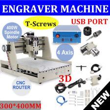USB 4 ASSI CNC MACCHINA 400W INCISIONI 3040T LAVORAZIONE LEGNO PLOTTER FORATURA