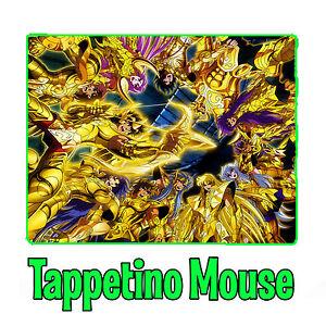 Saint Seiya Cavalieri dello Zodiaco Gold Oro Tappetino Mouse Pad Pc Anime Manga